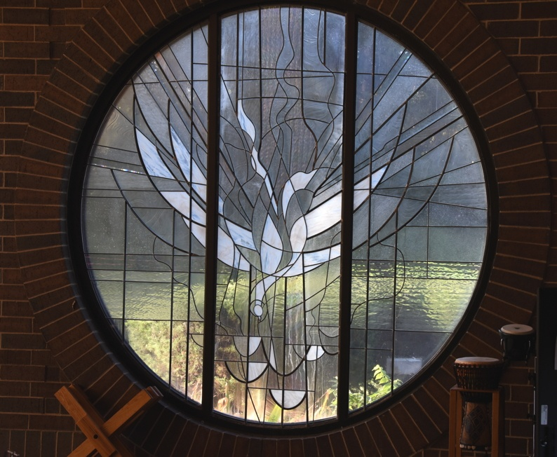Stained glass in Santuary